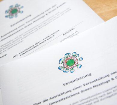 Dekoratives Bild: Bestätigung der Zertifizierung als Green-Event des Pennälertag 2017 in Wien