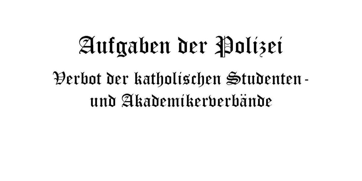MKV gedenkt der zwangsweisen Auflösung durch die Nationalsozialisten vor 80 Jahren