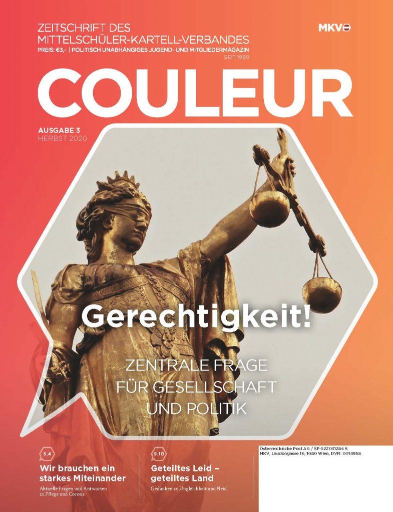 Couleur 3/20 – Gerechtigkeit! Zentrale Frage für Gesellschaft und Politik