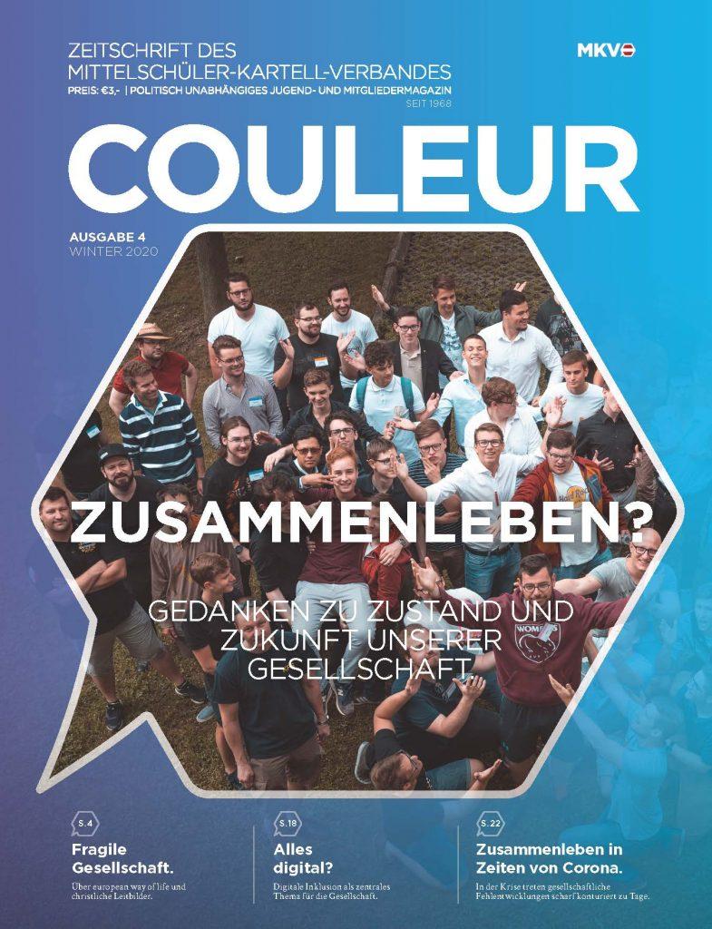 Couleur 4/20 – Zusammenleben? Gedanken zu Zustand und Zukunft unserer Gesellschaft
